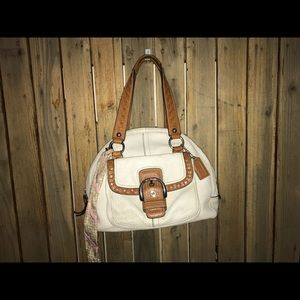 Coach White Leather Satchel